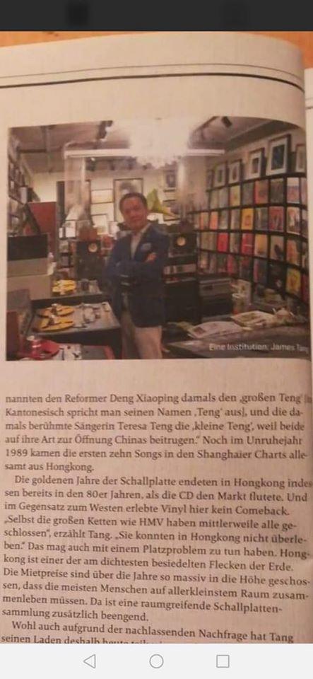 著名滾石人雜誌主筆在德國最暢銷音樂雜誌MINT 專訪