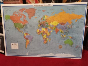 Over 100 countries visitors from around the world!