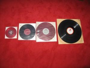 7'' EP < 10'' LP < 12'' LP < 16'' 廣播電台專用 16''LP
