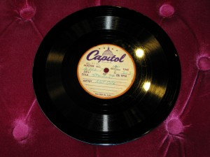 Rarest 1950s 8'' 45rpm Acetate EP & LP Master Disc purchased from the Nat King Cole Family.