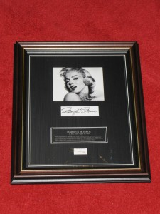 GENUINE HAIR LOCK OF MARYLIN MONROE