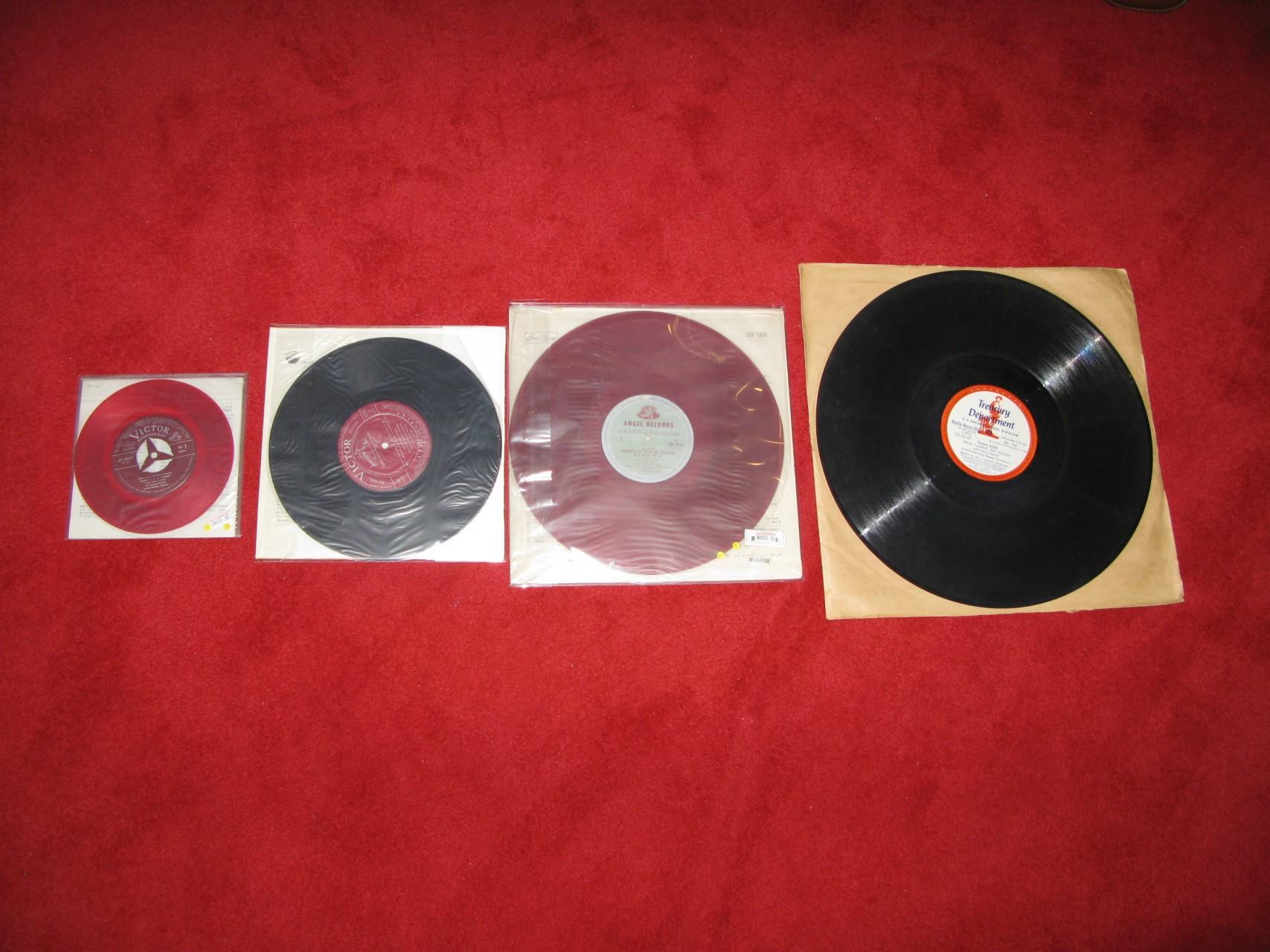 7'' EP < 10'' LP < 12'' LP < 16'' Transcription Radio LP