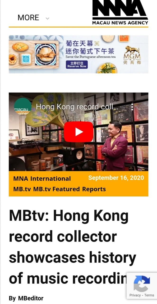 Macau News Agency cooverage